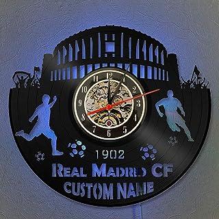 Reloj con nombre personalizado Reloj de pared con registro de vinilo LED de 12
