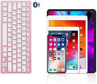 OMOTON Ultra-Slim Bluetooth Keyboard Compatible with iPad 10.2(8th/ 7th Generation)/ 9.7, iPad Air 4th Generation, iP...