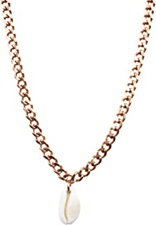 Pame Design Cuban Rocker Chain Necklace with Cowrie Shell