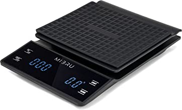 MIBRU Coffee Scale with Timer, 3kg/0.1g Digital Touch Scale Weighing Coffee Baking and Cooking with High Precision Sensors...