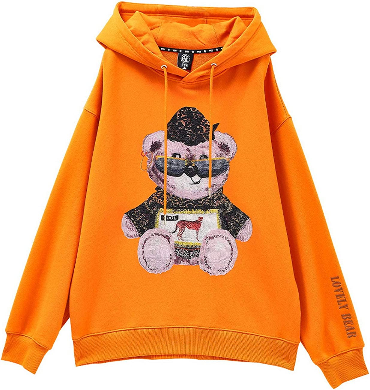 Loose Hooded Sweater Tide Brand Luxury Big Light Winnie The hot Beads Men and Women T201126019