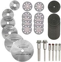 Hamineler 36PCS Rotary Cutting Wheels Tool Kit, Mini Diamond Cutting Wheel and HSS..
