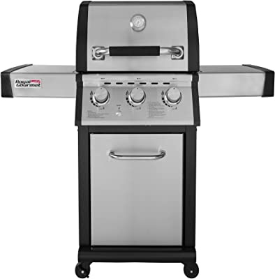 Royal Gourmet MG3000 3-Burner Cabinet Propane Gas Grill, for Outdoor Backyard BBQ Cooking, Stainless Steel
