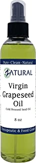 GrapeSeed Oil-Cold Pressed, Virgin, Undiluted, 100% Pure Grape Seed Oil (8 Ounce Spray)