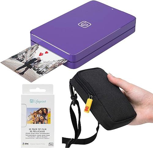 discount Lifeprint 2x3 Portable online sale Photo and Video Printer (Purple) online Travel Kit online sale