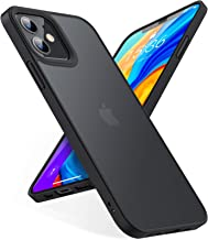 TORRAS Shockproof Designed for iPhone 12 Mini Case [Military Grade Drop Tested] Translucent Matte Hard Case with Soft Sili...