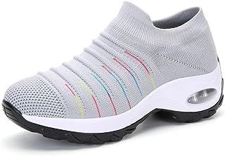 Zapatillas de Deporte para Mujer Calzado de Gimnasia Calzado Ligero para Correr Calcetines cómodos y Transpirables Calzado...