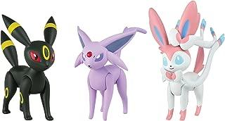 Pokémon Action Pose 3 Figure Pack: Espeon, Umbreon, Sylveon