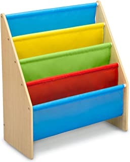 Delta Children Sling Book Rack Bookshelf for Kids - Easy-to-Reach Storage for Books, Magazines or Coloring Books - Ideal f...