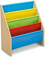 Delta Children Sling Book Rack Bookshelf for Kids, Natural/Primary