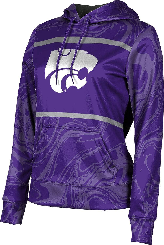 ProSphere Kansas State University Girls' Pullover Hoodie, School Spirit Sweatshirt (Ripple)