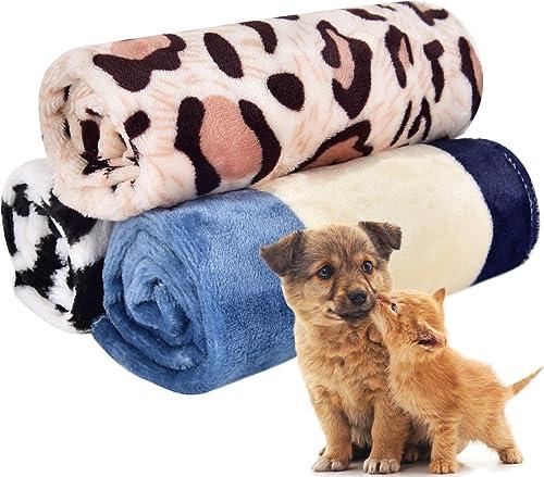 PET SPPTIES Doux Chaud Animal Molleton Couverture lit Mat Couverture Coussin Chien Chiot Animal Rouge 80x60cm 3 pièce...