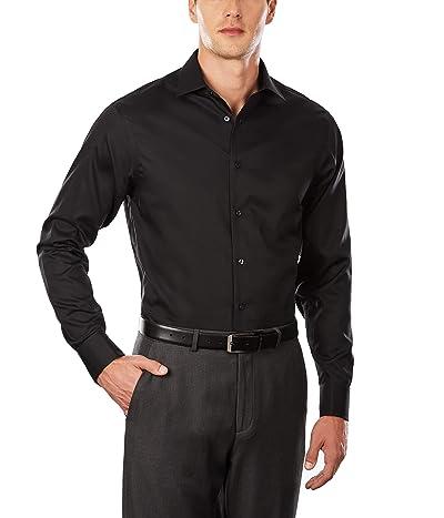 Calvin Klein Dress Shirt Regular Fit Non Iron Herringbone French Cuff
