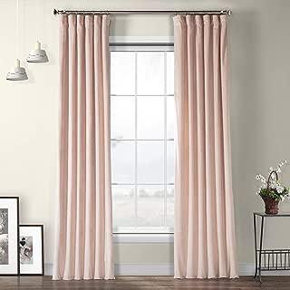 VPYC-161207 Heritage Plush Velvet Curtain, 50 x 84, Ballet Pink