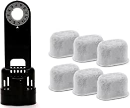 6 Pack Replacement Charcoal Water filter Cartridges with Starter Kit Combo for Keurig K-cup 1.0 Coffee Brewing System by iPartplusmore