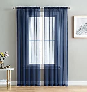 Best blue window sheers Reviews