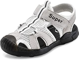 SKOEX Boys Closed-Toe Mesh Outdoor Sports Sandals(Toddler/Little Kid)