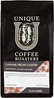 Caramel Pecan Flavored Ground Coffee, 1 LB (16 oz) bag, Medium Roast, 100% Arabica Premium Quality Flavor