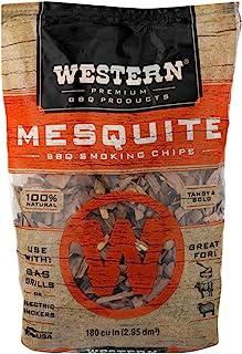 WESTERN 78074 BBQ Smoking Chips, 188 cu in, Mesquite