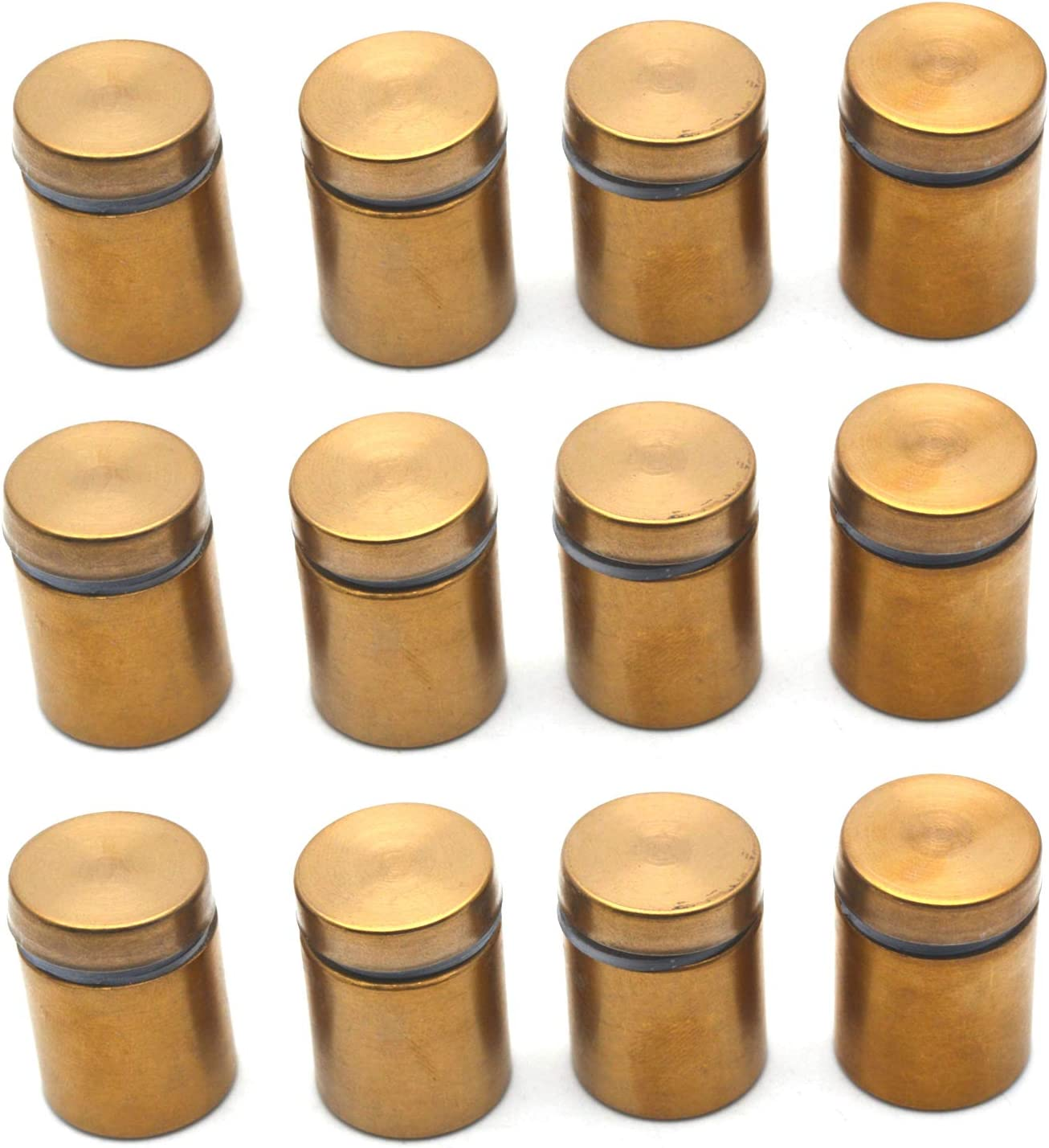 16mmx24mm Stainless Steel Advertise Glass Standoff Pin Fixing Mount Bolt 8pcs
