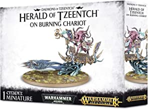 Games Workshop Warhammer 40K - Age of Sigmar Daemons of Tzeentch Herald of Tzeentch on Burning Chariot