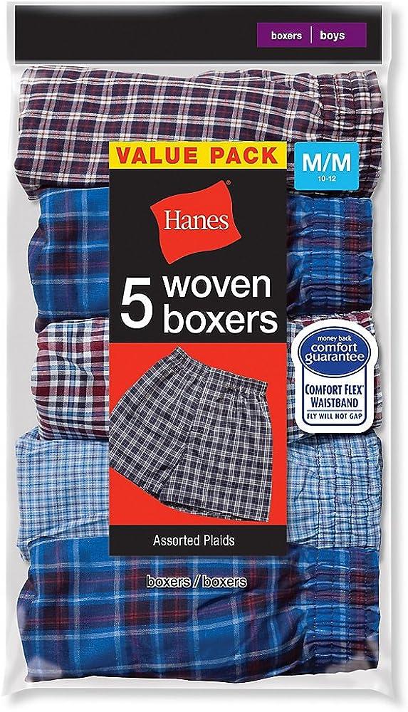 Hanes Boys Red Label Tartan Boxer