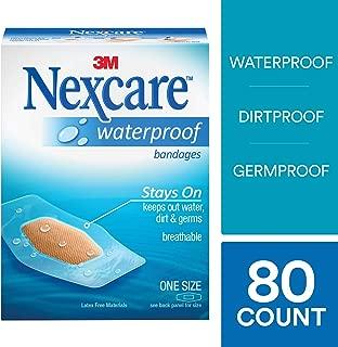 Nexcare Waterproof Clear Bandages, Dirtproof, Germproof, 20 Count Packages (Pack of 4)