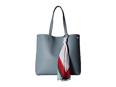 Calvin Klein Rachel Chemtech Novelty Tote (Blue Mist) Tote Handbags