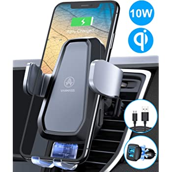 Gorilla Gadgets Wireless Car Charger Air Vent Phone Holder 10W Qi Fast Charging Compatible with S10Plus//S10//S9Plus//S9//S8Plus//S8 etc. Compatible with iPhone Xs MAX//Xs//XR//X//8Plus//8 Car Mount