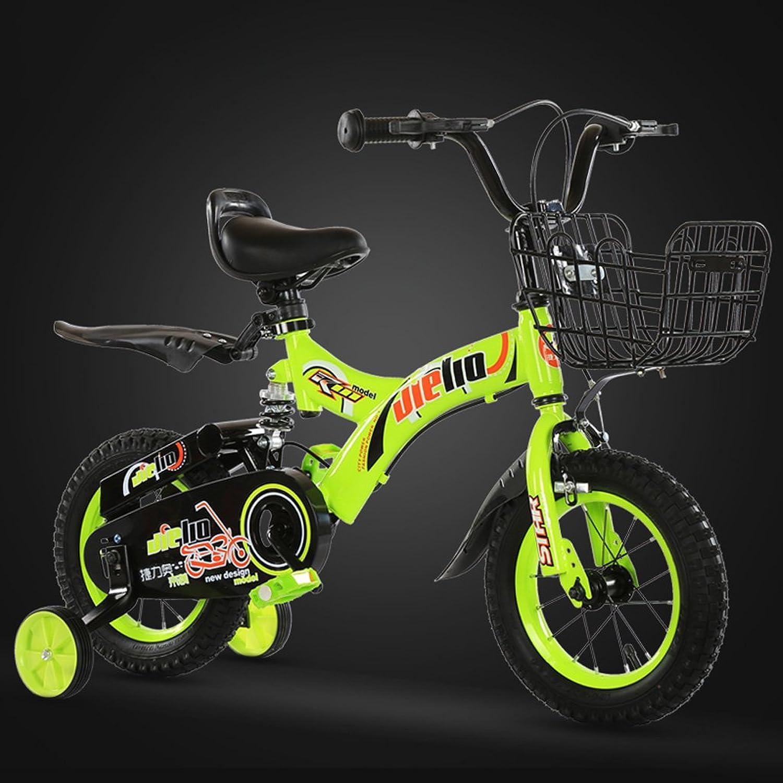 ordenar ahora LXYFMS LXYFMS LXYFMS Bicicletas para Niños Bicicletas de 16 Pulgadas Bicicletas para Niños de 4-8 años Cocheritos de bebé de Acero con Alto Contenido de Cochebono, Azul verde Bicicleta para Niños (Color   verde)  barato