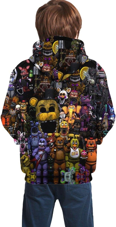 Five Nights at Freddys Bear Kids Hoodie FNAF Hooded Pullover Sweatshirt hoodies For Boys Grils