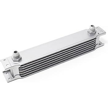 ETbotu Kit Radiatore Olio Kit radiatore Olio 13 File Tubo Flessibile in Nylon Acciaio Inossidabile Nero +6721 Adattatore Sandwich Filtro Olio