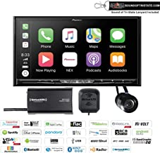 """Pioneer AVIC-W8500NEX in Dash 6.94"""" Navigation DVD Receiver with SiriusXM SXV300V1 Satellite Radio Tuner and Antenna and a Backup Camera and a Sound of Tri-State Lanyard Bundle"""