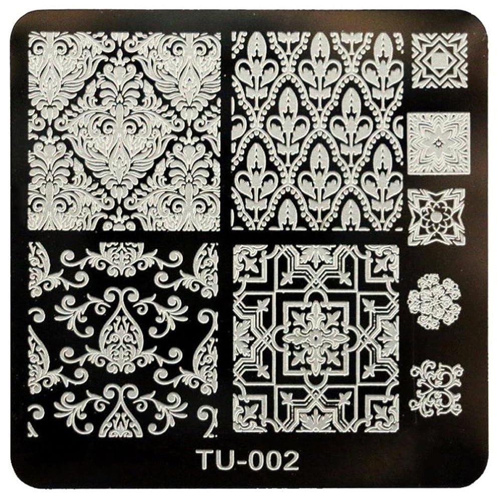 分離する意見関数CUHAWUDBA DIYネイルアート画像スタンププレート マニキュアテンプレート(TU-002)