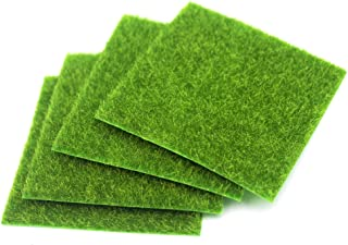Nice purchase Artificial Moss Simulation Fake Green Plants Grass for Party Patio Lawn Micro Landscape Decoration Flowers Grass DIY Crafts (4 pcs 6''×6'')