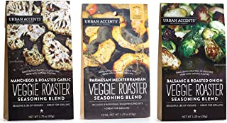 Urban Accents All Natural Gluten Free Veggie Roaster Vegetable Seasoning 3 Flavor Variety Bundle: (1) Urban Accents Balsam...