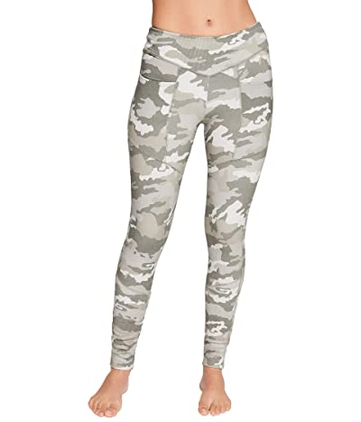 Chaser Quadrablend Paneled Rib Leggings (Camouflage) Women