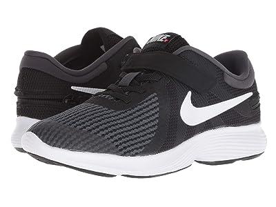 Nike Kids FlyEase Revolution 4 (Big Kid) (Black/White/Anthracite/Total Crimson) Kids Shoes