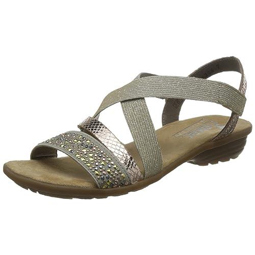 9a246832c9e9 Rieker Women s V3463-60 Closed Toe Sandals Beige