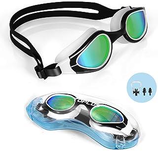 TOPLUS Swimming Goggles, No Leaking Anti Fog UV Protection Swim Goggles Soft Silicone Nose Bridge for Men, Women, Junior, ...