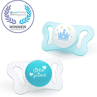 Chicco PhysioForma mi-cro Newborn Pacifier for Babies 0-2m, Teal, Orthodontic Nipple, BPA-Free, 2-Count in Sterilizing Case