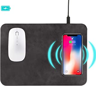 Wireless Charger Mouse Pad, Fast Wireless Charger,QI Wireless Mouse Pad for Samsung Galaxy S10/S9/S8 Plus Note 9/8 iPhone Xs Max/XR/X/XS/8/8 Plus(Black)