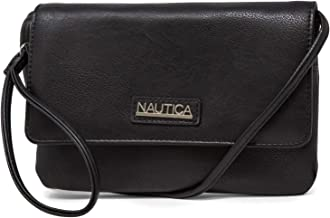 Nautica RFID Crossbody Wallets For Women Anti Theft Travel Purse Wallet On A String Vegan Leather