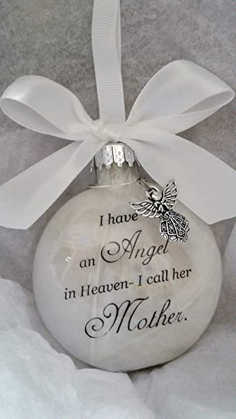 Memorial Christmas Ornament Sympathy Gift Angel In Heaven I Call Her Mother