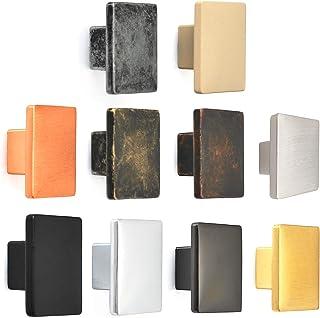 1 pomo cuadrado decorativo duradero para puertas cajones de cocina aparadores armarios escritorios y despensas 10 c...