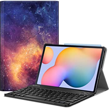 PU Tablet Cover Shell Case with Removable Wireless Keyboard Fit Samsung Galaxy Tab S6 Lite 10.4 2020 SM-P610//P615 MoKo Keyboard Case Compatible with Galaxy Tab S6 Lite 2020 Jungle Night