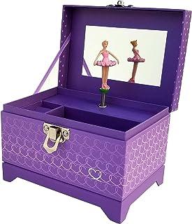 My Tiny Treasures Box Company Ballerina Music Box (Heart Ballerina Music Box - Purple)