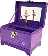 Heart Ballerina Music Box - Purple