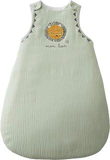 Vertbaudet - Saco de dormir sin mangas (gasa de algodón), diseño de león verde verde Talla:0/6 M