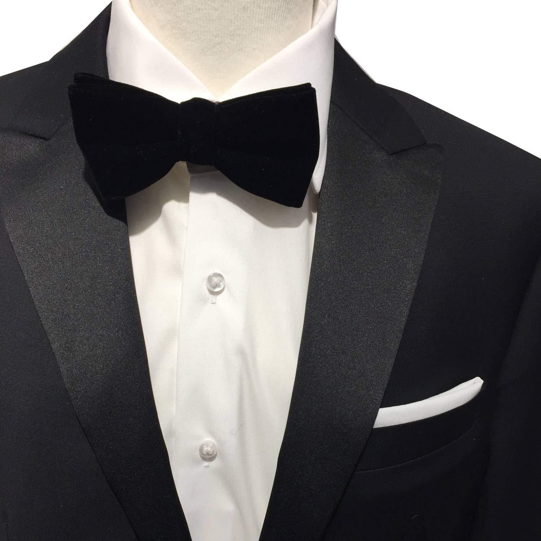 Hombre terciopelo de mosca + – Cabeza Toalla handrolliert Set, lazo 100% algodón negro y kavalier Lino/algodón color blanco ideal para camisa, traje, holgado outt: Amazon.es: Iluminación